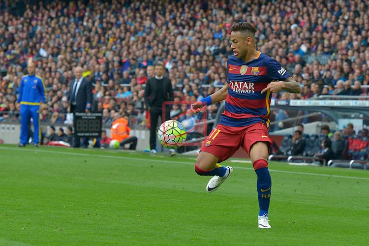 League BBVA 2015/2016 - Game: 37.<br /> FC Barcelona vs RCD Espanyol: 5-0.<br /> Neymar Jr.