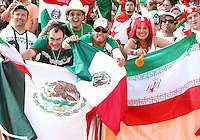 Mexican and Iranian Fans. Mexico defeated Iran 3-1 during a World Cup Group D match at Franken-Stadion, Nuremberg, Germany on Sunday June 11, 2006.