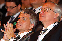Il presidente della Regione Puglia e leader di Sinistra Ecologia Liberta' Nichi Vendola, ed il segretario del Partito Democratico Guglielmo Epifani, a destra, all'assembea annuale della Confcommercio a Roma, 12 giugno 2013.<br /> Region Apulia's president and Left Ecology Freedom party's leader Nichi Vendola, and Italian Democratic Party's secretary Guglielmo Epifani, right, attend the Italian Confcommercio traders association's annual assembly in Rome, 12 June 2013.<br /> UPDATE IMAGES PRESS/Riccardo De Luca