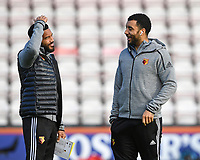 Adrian Mariappa of Watford left and Troy Deeney of Watford  during AFC Bournemouth vs Watford, Premier League Football at the Vitality Stadium on 12th January 2020