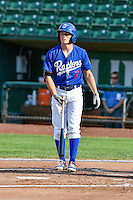Gavin Lux (7) of the Ogden Raptors at bat against the Idaho Falls Chukars in Pioneer League action at Lindquist Field on September 3, 2016 in Ogden, Utah. The Chukars defeated the Raptors 3-0. (Stephen Smith/Four Seam Images)