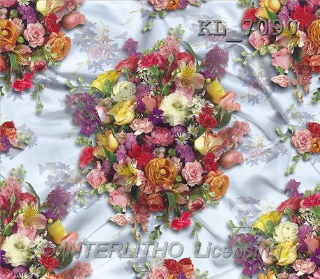 Interlitho, Ron, GIFT WRAPS, paintings, summerflowers(KL7090,#GP#) everyday
