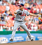 17 May 2007: Atlanta Braves starting pitcher Chuck James on the mound against the Washington Nationals at RFK Stadium in Washington, DC. The Nationals defeated the Braves 4-3 to take the four-game series three games to one...Mandatory Photo Credit: Ed Wolfstein Photo