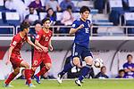 Tomiyasu Takehiro of Japan (R) in action during the AFC Asian Cup UAE 2019 Quarter Finals match between Vietnam (VIE) and Japan (JPN) at Al Maktoum Stadium on 24 January 2018 in Dubai, United Arab Emirates. Photo by Marcio Rodrigo Machado / Power Sport Images