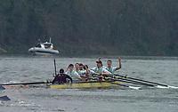 Greater London. United Kingdom, 164th. Men's  University Boat Race Cambridge University celebrate after winning the 164th. Men's  University Boat Race University Putney to Mortlake,  Championship Course, River Thames, London. <br /> <br /> Saturday  24/03/2018<br /> <br /> [Mandatory Credit:Intersport Images]