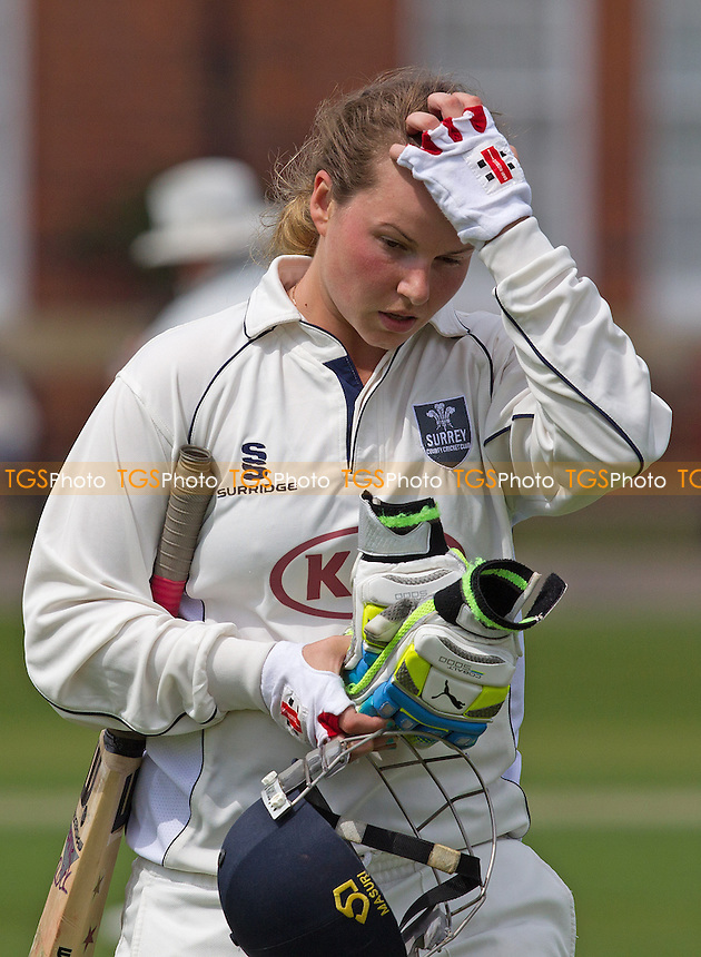 Kirstie White of Surrey - Essex Women v Surrey Women, Division 1 Royal London Women's One Day Cup, Felsted School, Essex - 25/05/14 - MANDATORY CREDIT: Ray Lawrence/TGSPHOTO - Self billing applies where appropriate - 0845 094 6026 - contact@tgsphoto.co.uk - NO UNPAID USE