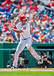 29 April 2017: Washington Nationals outfielder Michael Taylor at bat against the New York Mets at Nationals Park in Washington, DC. The Mets defeated the Nationals 5-3 to take the second game of their 3-game weekend series. Mandatory Credit: Ed Wolfstein Photo *** RAW (NEF) Image File Available ***