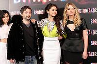 Selena Gomez, Vanessa Hudgens, Ashley Benson, director Harmony Korine and Rachel Korine attends 'Spring Breakers' photocall at Villamagna Hotel in Madrid. February 21, 2013. (ALTERPHOTOS/Caro Marin) /NortePhoto