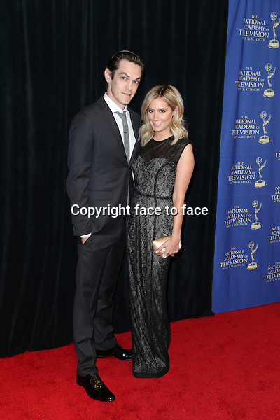LOS ANGELES, CA - JUNE 20: Christopher French and Ashley Tisdale at the Daytime Creative Arts Emmy Awards Gala at the Westin Bonaventure Hotel on June 20, 2014 in Los Angeles, California. Credit: mpi86/MediaPunch<br />