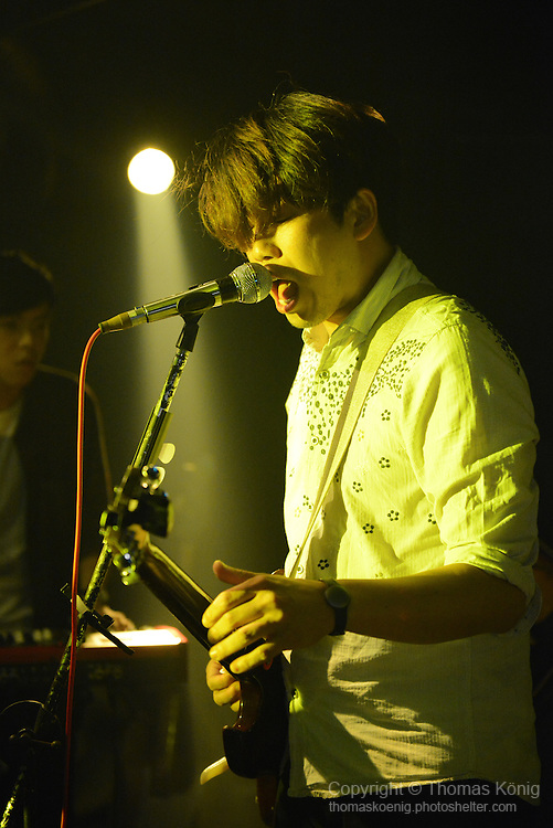 Kaohsiung, Taiwan -- Taipei-based band THE TIC TAC playing live at the Rocks on May 10, 2014, as part of the 'Noise Explosion Tour'.