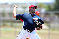 GCL Nationals Nathan Karns #13 during a game against the GCL Mets at the Washington Nationals Minor League Complex on June 20, 2011 in Melbourne, Florida.  The Nationals defeated the Mets 5-3.  (Mike Janes/Four Seam Images)