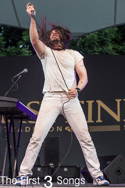 Andrew W.K. performs at the 2014 Bunbury Music Festival in Cincinnati, Ohio