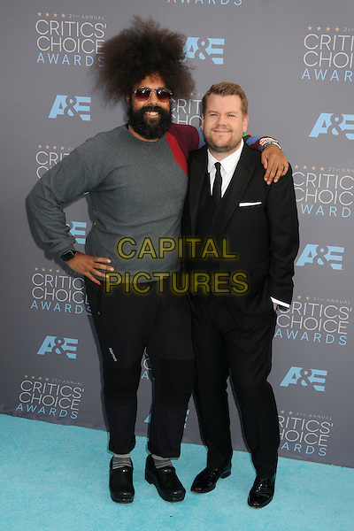 17 January 2016 - Santa Monica, California - Reggie Watts, James Corden. 21st Annual Critics' Choice Awards - Arrivals held at Barker Hangar. <br /> CAP/ADM/BP<br /> &copy;BP/ADM/Capital Pictures