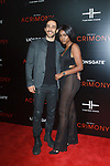 "Actor Amir Arison (left) and guest arrive on the red-carpet for the Tyler Perry""s ACRIMONY movie premiere at the School of Visual Arts Theatre in New York City, on March 27, 2018."