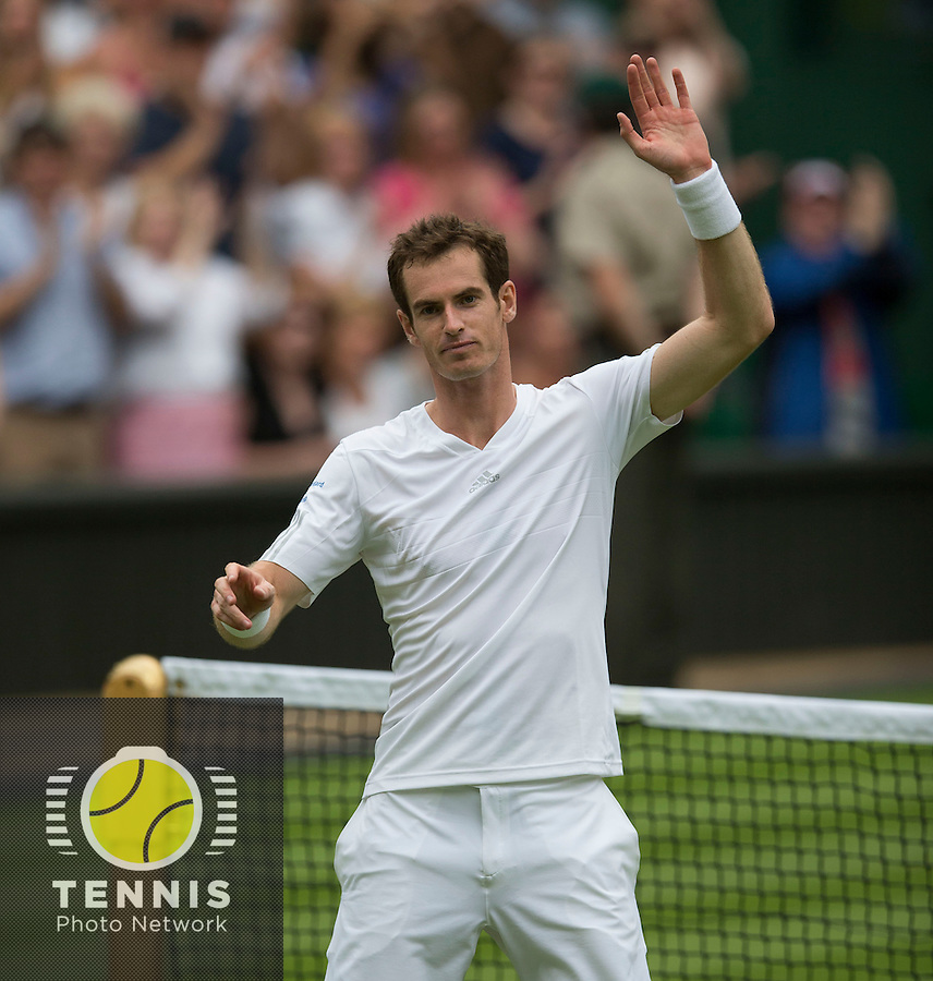 ANDY MURRAY (GBR)<br /> <br /> The Championships Wimbledon 2014 - The All England Lawn Tennis Club -  London - UK -  ATP - ITF - WTA-2014  - Grand Slam - Great Britain -  23rd June 2014. <br /> <br /> © Tennis Photo Network