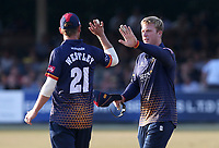 Simon Harmer of Essex celebrates taking the wicket of Nick Gubbins during Essex Eagles vs Middlesex, Vitality Blast T20 Cricket at The Cloudfm County Ground on 6th July 2018