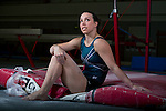 British Olympic gymnast Beth Tweddle, pictured at the gym she trains at in Toxteth, Liverpool. Tweddle is a former World, European and national champion in the parallel bars discipline. The 2012 Olympics was the third time she had been selected to represent Team GB at the Games...