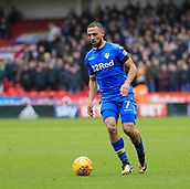 10th February 2018, Bramall Lane, Sheffield, England; EFL Championship football, Sheffield United versus Leeds United; Kemar Roofe of Leeds United moves the ball forward