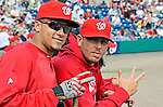 4 March 2011: Washington Nationals infielder Ian Desmond (left) and pitcher Yunesky Maya pose for a snapshot prior to Spring Training action against the Atlanta Braves at Space Coast Stadium in Viera, Florida. The Braves defeated the Nationals 6-4 in Grapefruit League action. Mandatory Credit: Ed Wolfstein Photo