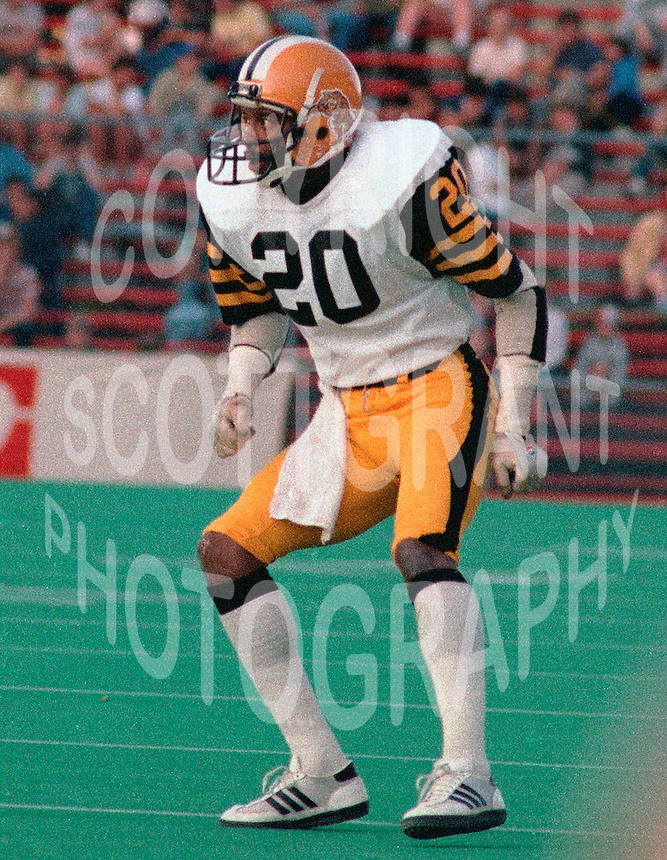 Mark Streeter HamiltonTiger Cats 1984. Copyright photograph Scott Grant