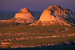 Sunset light frames the Pawnee Buttes, Pawnee Nat'l Grassland, CO