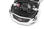 Car Stock 2015 Cadillac ATS 2.0 RWD Premium 2 Door Coupe Engine high angle detail view