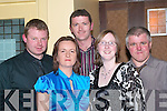 SOCIAL: Enjoying a great night at the Lee Strand Annual Social in The Brandon Hotel Conference Centre, Tralee on Saturday night were front l-r: Marie Conway and Mary O'Connor. Back l-r: Nick Lyons, D.J O'Connor and John O'Connor (Tralee).   Copyright Kerry's Eye 2008