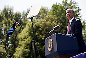 United States President Barack Obama delivers remarks during a ceremony to commemorate the 50th anniversary of the Vietnam War at the Vietnam Veterans Memorial in Washington, D.C. on Monday, May 28, 2012. .Credit: Kristoffer Tripplaar  / Pool via CNP