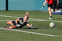 Rochester, NY - Saturday July 23, 2016: Western New York Flash goalkeeper Britt Eckerstrom (28) prior to a regular season National Women's Soccer League (NWSL) match between the Western New York Flash and FC Kansas City at Rochester Rhinos Stadium.