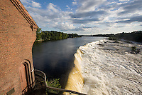 Pawtucket Falls, Lowell, MA, Merrimack River panorama