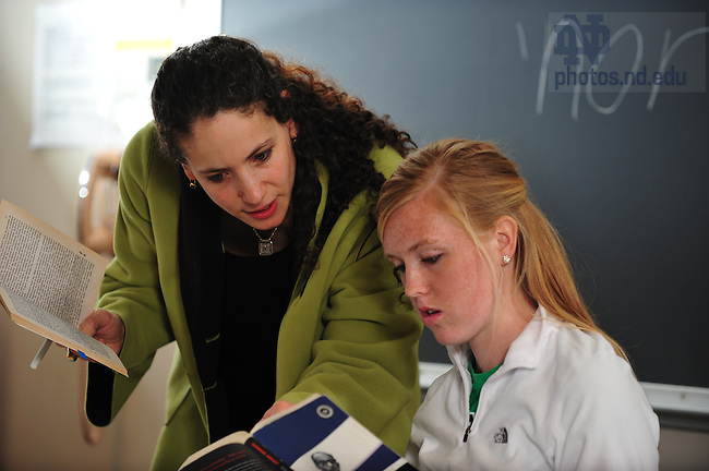 Atalia Omer teaches an undergraduate course...Photo by Matt Cashore/University of Notre Dame