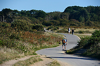 BNPS.co.uk (01202 558833)<br /> Pic: ZacharyCulpin/BNPS<br /> <br /> The land train trail at the picturesque Hengistbury Head.<br /> <br /> Passengers have hit out at a 'farcical' council-run land train at a beauty spot after a driver shortage put it out of action for the ninth time in three months.<br /> <br /> The popular Hengistbury Head Land Train in Dorset has already been besieged by a series of mechanical failures over the summer.<br /> <br /> Now, the stricken service, which is overseen by BCP Council, has suffered further ignimony as it was forced to shut down for three days to enable their only available driver to do some 'mandatory training'. This had been arranged at the same time that their second driver was on annual leave.<br /> <br /> The novelty 'Noddy' train service, which takes thousands of visitors a year 1.5 miles from the car park at the Hengistbury Head nature reserve to Mudeford Spit, was launched by the late Joyce and Roger Farris in 1968.<br /> <br /> It was operated independently, running for 364 days a year, until it was controversially taken over by the local council in 2015 who terminated their contract.
