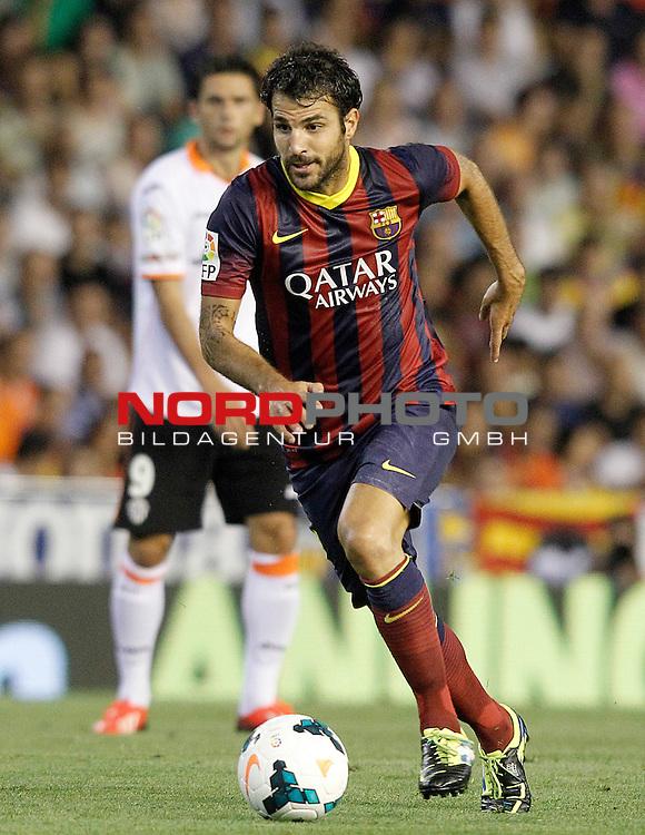 FC Barcelona's Cesc Fabregas during La Liga match.September 1,2013. Foto © nph / Acero)