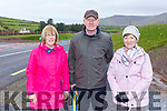 Kathleen Kennedy, John and Brid Fitzgerald all from Ballinasare, Lispole  enjoying a walk on the new N86 Lispole to Ballynasare Lower road on Tuesday.