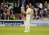 7th September 2017, Lords Cricket Ground, London, England; International Test Match Series, Third Test, Day 1; England versus West Indies; England Bowler James Anderson prepares to start his over
