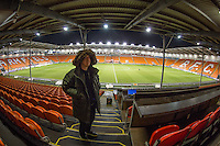 Commentator Phil Catchpole during the The Checkatrade Trophy match between Blackpool and Wycombe Wanderers at Bloomfield Road, Blackpool, England on 10 January 2017. Photo by Andy Rowland / PRiME Media Images.