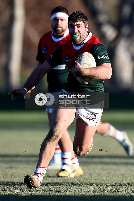 NELSON, NEW ZEALAND - July 4: Wanderers Wolves v Richmond Rabbits at Lord Rutherford Park on July 4, 2015 in Nelson, New Zealand. (Photo by: Chris Symes Shuttersport Limited)