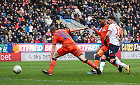 Bolton Wanderers' Will Buckley shoots at goal <br /> <br /> Photographer Andrew Kearns/CameraSport<br /> <br /> The EFL Sky Bet Championship - Bolton Wanderers v Millwall - Saturday 9th March 2019 - University of Bolton Stadium - Bolton <br /> <br /> World Copyright © 2019 CameraSport. All rights reserved. 43 Linden Ave. Countesthorpe. Leicester. England. LE8 5PG - Tel: +44 (0) 116 277 4147 - admin@camerasport.com - www.camerasport.com