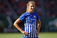 Portland, Oregon - Sunday September 4, 2016: Boston Breakers midfielder Louise Schillgard (10) during a regular season National Women's Soccer League (NWSL) match at Providence Park.