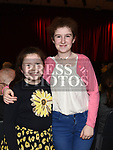 Niamh and Aisling Curran at the Comhaltas Trad na Samhna show held in the Barbican Centre. Photo:Colin Bell/pressphotos.ie