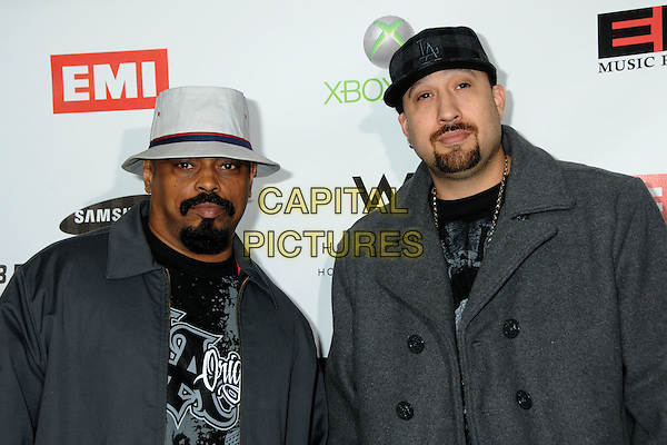 CYPRESS HILL - Sen Dog and B-Real .EMI Post Grammy Party 2010 held at the W Hollywood Hotel, Hollywood, California, USA, 31st January 2010..portrait headshot grey gray hat hand gesture cap goatee facial hair grammys .CAP/ADM/BP.©Byron Purvis/Admedia/Capital Pictures