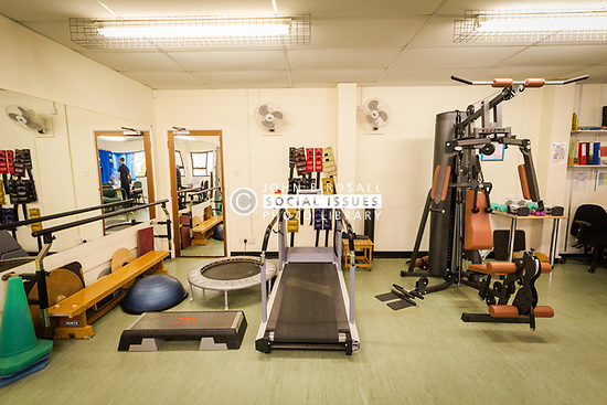 Physiotherapy gym at health centre, London Borough of Haringey, UK