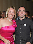 Wanetta Duff and Wayne Cox pictured at the St Olivers Community College Class of '92 reunion in the Westcourt hotel. Photo:Colin Bell/pressphotos.ie