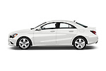 Car Driver side profile view of a 2016 Mercedes Benz CLA Class CLA250 4 Door Sedan Side View