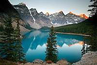 Moraine Lake and the Valley of the Ten Peaks, Banff National Park, Alberta, Canada.