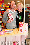 Listowel Food Fair: Pictured at Garvey's Super Value Store, Listowel displaying theirr Daisy Bakes  Chocklate Bites were John Morris , Mountcollins, co owner of Daisy Bites and customer Maggie Large.