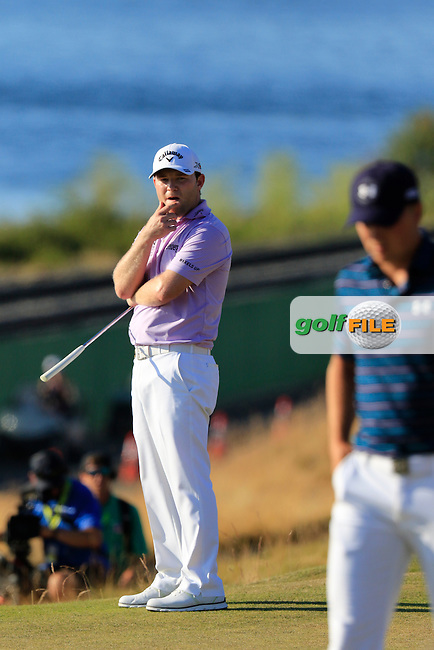 Branden GRACE (RSA) misses his putt from the edge of the 16th green  during Sunday's Final Round of the 2015 U.S. Open 115th National Championship held at Chambers Bay, Seattle, Washington, USA. 6/22/2015.<br /> Picture: Golffile | Eoin Clarke<br /> <br /> <br /> <br /> <br /> All photo usage must carry mandatory copyright credit (&copy; Golffile | Eoin Clarke)