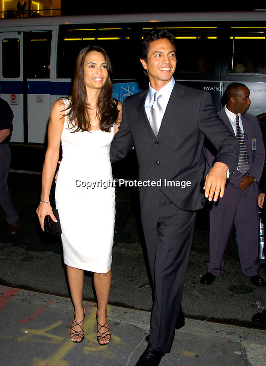 Talisa Soto and husband Benjamin Bratt ..at a Party at Bendels for Catwomen on July 21, 2004 ..Photo by Robin Platzer, Twin Images