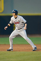 Kyle Russell #25 of the Great Lakes Loons takes his lead off of second base versus the Dayton Dragons at Fifth Third Field April 21, 2009 in Dayton, Ohio. (Photo by Brian Westerholt / Four Seam Images)