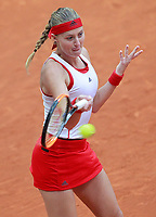 Kristina Mladenovic, France, during Madrid Open Tennis 2018 match. May 9, 2018.(ALTERPHOTOS/Acero) /NortePhoto NORTEPHOTOMEXICO